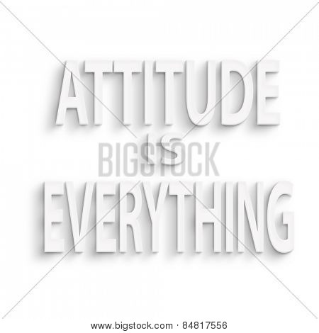 text on the wall or paper, attitude is everything