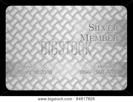 Silver Member Card With Diagonal Crossing Bar Template