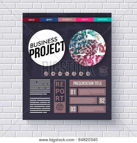 Business project infographic design template
