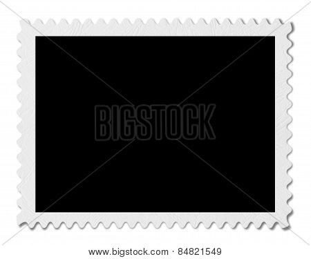 Blank Post Aged Stamp Isolated On White. Scanned, With Clipping Path.