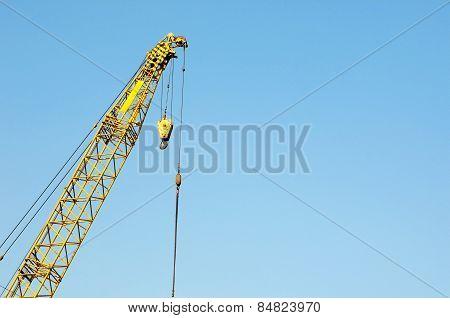 Close Up Shot Of A Crane At A Harbour