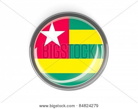 Round Button With Flag Of Togo