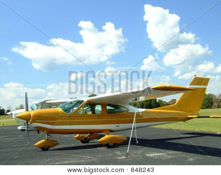 Small Airplane on Sunny Day