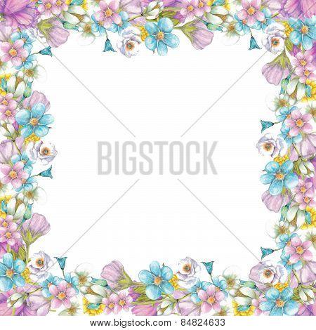 Frame of wildflowers