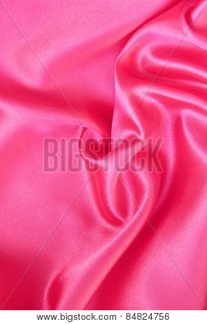 Smooth Elegant Pink Silk Or Satin As Background