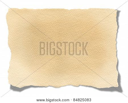 Recycled Blank Paper. Clipping Path.