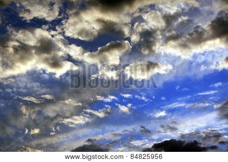 Clouds in the storm sky