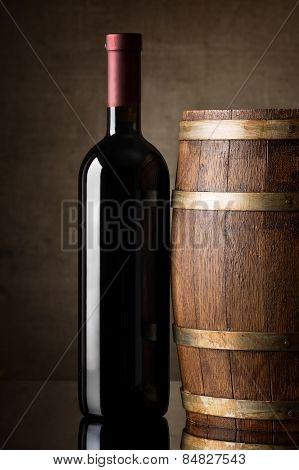 Wine in bottle
