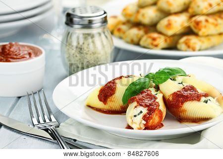 Meal Of Ricotta Stuffed Shells