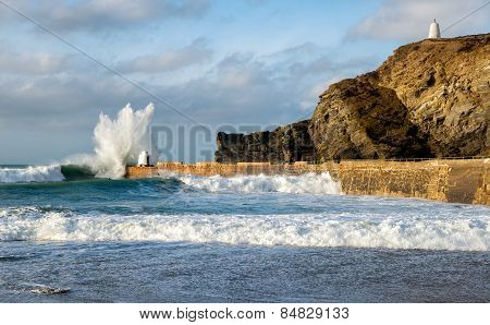Waves At Portreath