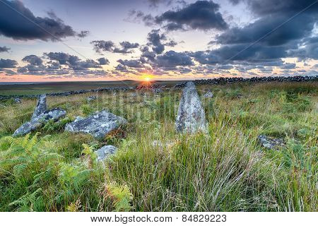 Standing Stones On Garrow Tor