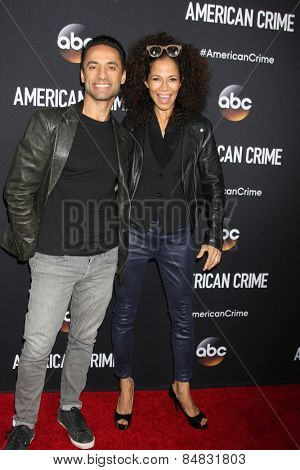 LOS ANGELES - FEB 28:  Kamar de los Reyes, Sherri Saum at the