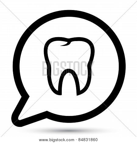 Vector tooth icon