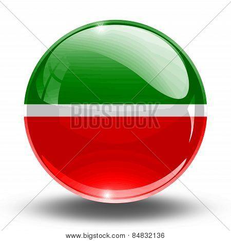 3D, crystal sphere Tatarstan