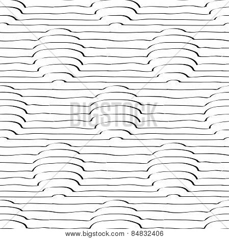 Circles In 3D With Lines Seamless Pattern