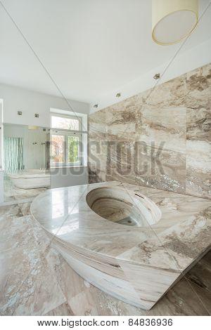Luxury Bathroom With Marble Elements