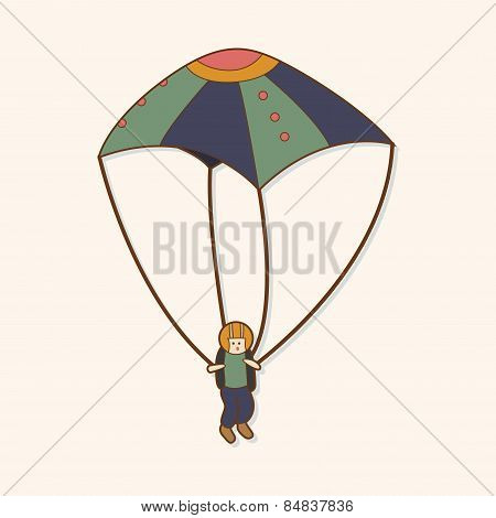 Hang Gliding Theme Elements Vector,eps