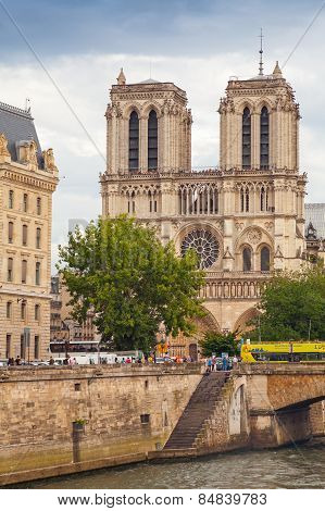 Notre Dame De Paris Cathedral In Paris, France