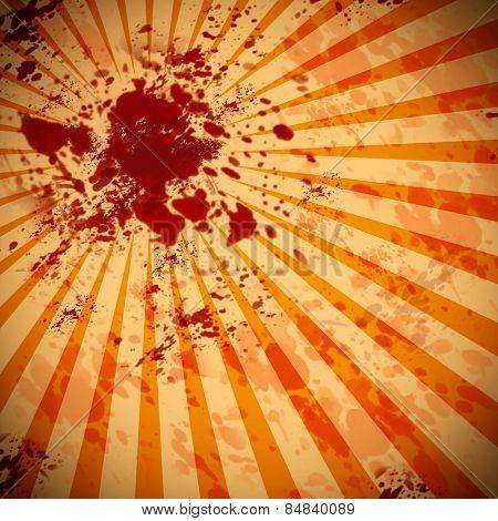 Grungy blood splatter background graphic