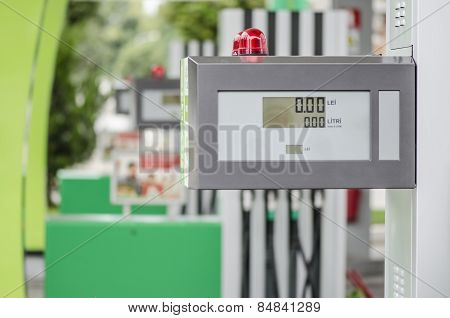 Gas Station. Pump Counter