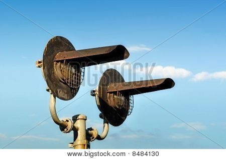 Old Rusted Grunge Railroad Light Signals