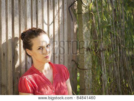 Beautiful And Meditative Woman