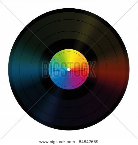 Unlabeled Record Rainbow Colors Vinyl