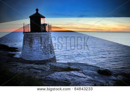 Castle Hill Lighthouse in Newport Rhode Island