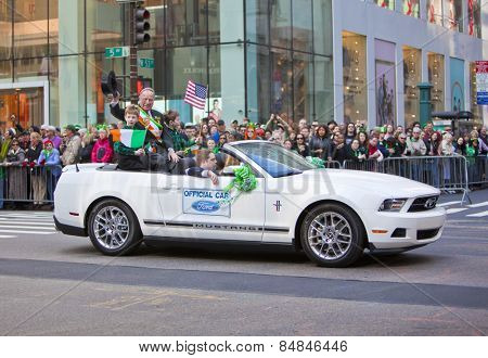 NEW YORK, NY, USA MAR 17:  John T. Dunleavy, Chairman-Director at the St. Patrick's Day Parade on March 17, 2012 in New York City, United States.