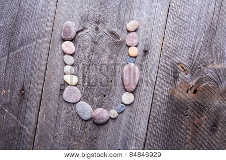 Stone Alphabet - U