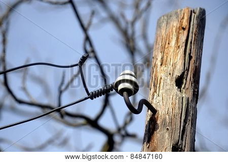 Wooden Electricity Pole