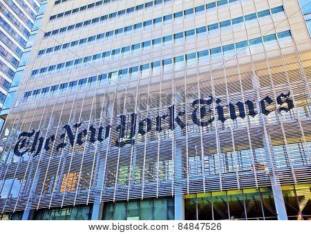 NEW YORK CITY - JUNE 3: The New York Times building, June 3rd, 2012 in Manhattan, New York City.