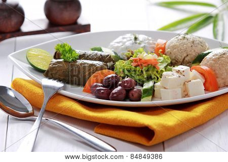 Greek Vegetarian Food Mix Pikilia