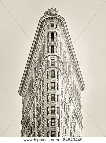 NEW YORK, NY, USA - MAY 6: Flat Iron building, built in 1902 is of the first skyscrapers ever built, taken on May 6, 2012 in New York City, United States.