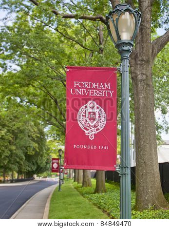 NEW YORK CITY - Aug 5: Fordham University founded in 1841 is one of New York's oldest and famous top tier colleges on August 5, 2012 in Manhattan, New York City.