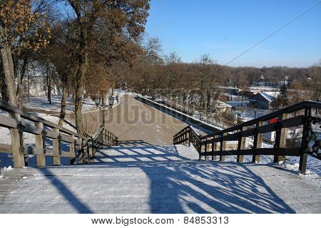 Stairs In Chernihiv Park