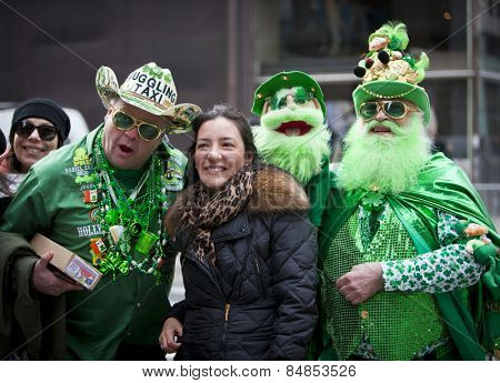 NEW YORK, NY, USA - MAR 17: St. Patrick's Day Parade on March 17, 2014 in New York City, United States.