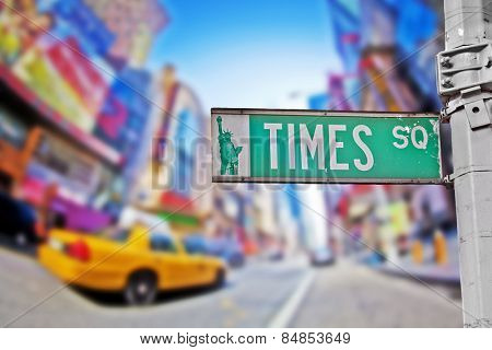Times Square sign in New York City