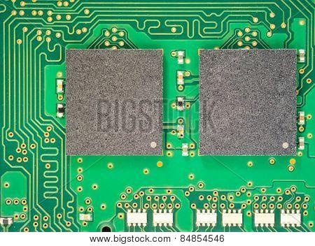 Macro Shot Of Electronic Board