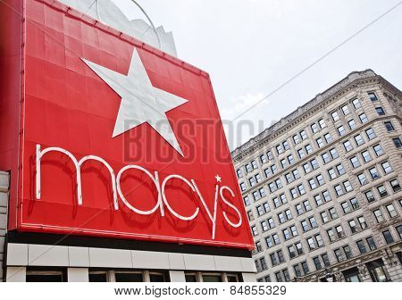 New York, USA - JUNE 28th, 2014: The world famous department store Macy's in New York City.