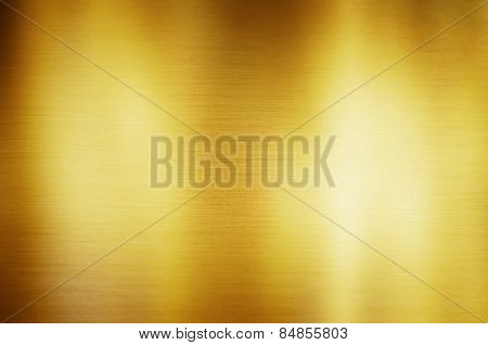 Gold Metal Background Light Brushed Steel Plate