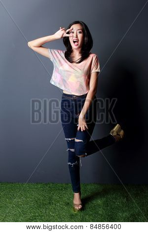 Cheerful Young Woman