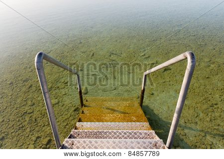 Stairs Into Lake Attersee