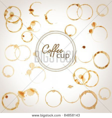 Space for your text on coffee stains background