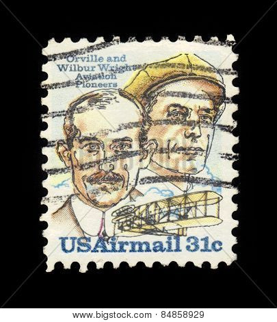Brothers Orville And Wilbur Wright, American Aviation Pioneers