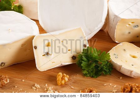 Cheese on cutting board