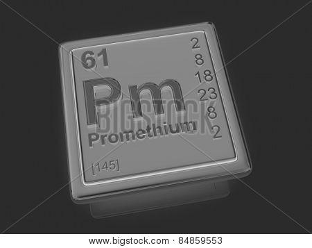 Promethium. Chemical element. 3d