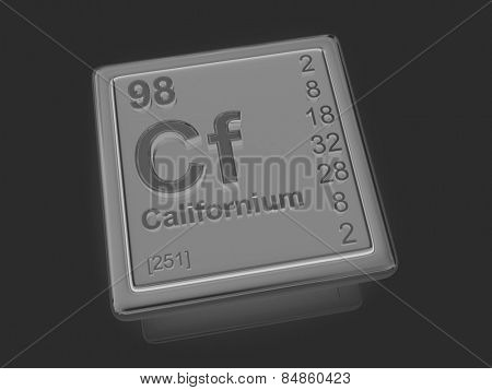 Californium. Chemical element. 3d