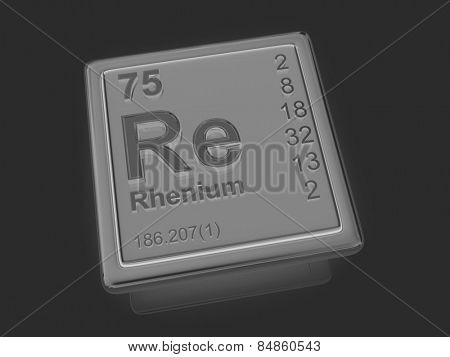 Rhenium. Chemical element. 3d