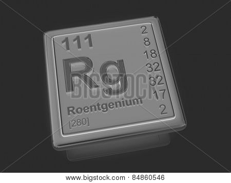 Roentgenium. Chemical element. 3d